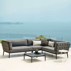 Conic Coffee Table   by Cane-Line    Bring the Conic Coffee Table to any modern outdoor situation. Furniture, Outdoor Decor, Outdoor Sectional Sofa, Deck Furniture, Outdoor Tables, Table, Home Decor, Coffee Table, Modern Outdoor Coffee Tables