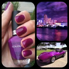 Cuccio Colour Nail Polish - Eye Candy In Miami ! Great purple colour! Buy this high quality polish now at http://www.thebeautybuyer.ca ! Get 15% off for a LIKE on our Facebook Page!