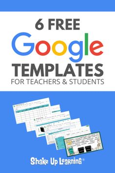 6 FREE Google Templates for Creative Productivity | Ready to use Google in the classroom? Check out these free templates!
