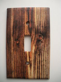 Rustic Wood Grain image light switch outlet cover by CreepyHallow, $7.99