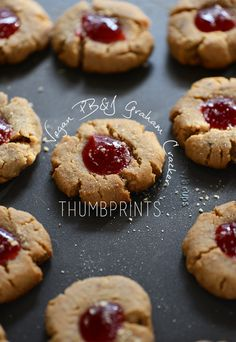 PB&J Graham Cracker Thumbprints