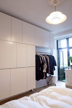 Ikea kitchen cabinets as wardrobe