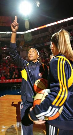 The Fever's Tamika Catchings gives thanks.  #WNBA