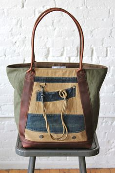 1930's era Lineman's Jacket Carryall - FORESTBOUND