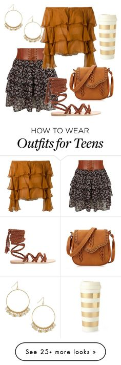 """""""country style!"""" by claudialogan on Polyvore featuring New Look, Balmain, Ancient Greek Sandals, BCBGeneration, Kate Spade and country"""
