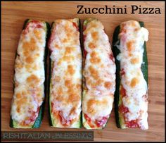 Zucchini Pizza - Easy, Yummy Healthy Alternative food, nutrition, diet, dieting, vegetables, vegetarian, healthy eating, fruit, good fats #fastsimplefit Get Free Fitness and Weight Loss News and Tips by Liking Us on: www.facebook.com/FastSimpleFitness