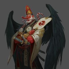 The amazing digital art Fantasy Character Design, Character Design Inspiration, Character Concept, Character Art, Concept Art, Tengu Tattoo, Fantasy Monster, Monster Art, Fantasy Creatures