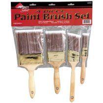 Linzer 4 Piece Paint Brush Set