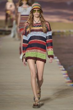 Crochet at London Fashion Week Spring/Summer 2016 and Other High Fashion Crochet