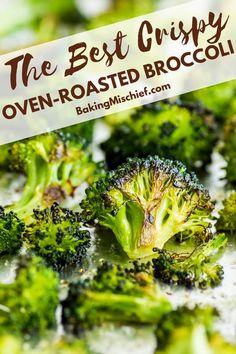 Roasted Brocolli, Roasted Veggies In Oven, Roasted Broccoli Recipe, Roast Broccoli Oven, Best Broccoli Recipe, Roasted Green Vegetables, Crack Broccoli, Oven Roasted Cauliflower, Oven Roasted Asparagus
