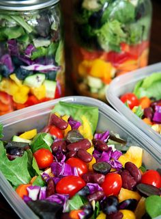 Pack 5 Salads on Sunday Night That Will Stay Fresh All Week www.mydoterra.com/epicyoga