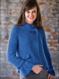 I absolutely LOVE this tweed #crochet jacket! Pattern available in sizes to 2X.