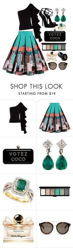 """Votez Coco"" by pulseofthematter ❤ liked on Polyvore featuring Beaufille, Giuseppe Zanotti, Salvatore Ferragamo, STELLA McCARTNEY and Gucci"