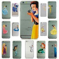 Blancanieves Ariel OLAF Belle Funda Rígida Funda Para Iphone 4 4s 5 5s 5c 6 6…