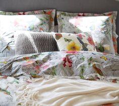 Hummingbird Reversible Duvet Cover & Shams   Pottery Barn