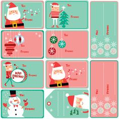 Xmas Gift Tags fabric by edmillerdesign on Spoonflower - custom fabric