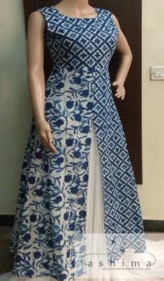 Code:06031811 - Price INR:1300/- , Block Printed Cotton Kurti