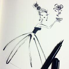 Nightly sketch. @maybelleimasa  you inspired me. #Pental #sketch #fashion