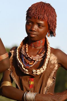 #CULTURAL_PERFORMANCE; #Ethiopia, Hamer girl by * hiro008 on Flickr.  Via Flickr:  Ethiopia, young girl from the Hamer tribe takes part in a #traditional_dance in a village near Turmi, Lower Omo Valley