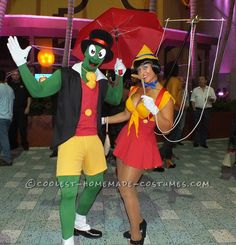 Jiminy and Sexy Pinnochio Couple Halloween Costume... Coolest Homemade Costumes