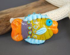 Here Fishie Fishie  Glass Bead Fish Focal in by jperaladesigns, $20.00