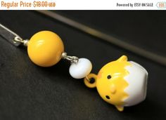 BLACK FRIDAY SALE Baby Chick Bookmark. Beaded Bookmark. Easter Chick Book Charm. Book Hook Bookmark. Handmade Bookmark. by Gilliauna from Bits n Beads by Gilliauna. Find it now at http://ift.tt/2gqtoND!