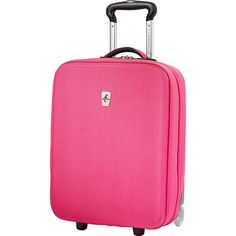 """Atlantic Debut 20"""" Carry-On Upright Luggage - Pink - Carry-On Luggage ($85) ❤ liked on Polyvore featuring bags, luggage and pink"""