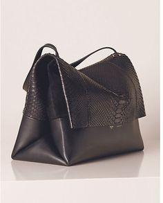 CÉLINE all soft black python and leather