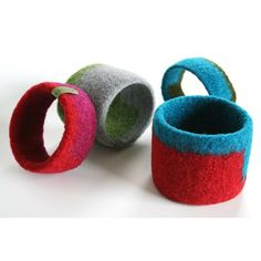 Felted bangle Very cute!
