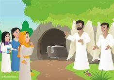 Interactieve praatplaat Pasen, Jezus is opgestaan voor kleuters, met allerlei filmpjes