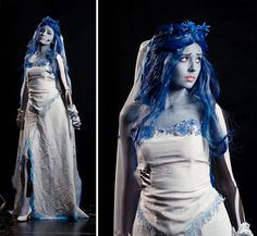 More Corpse Bride costume inspiration. Mom Costumes, Last Minute Costumes, Halloween Party Costumes, Halloween Cosplay, Halloween Makeup, Cosplay Costumes, Costume Ideas, Cosplay Ideas, Corpse Bride Dress