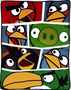 Amazon.com: Angry Birds Blanket Bold Bird vs Pigs Game Plush Throw: Toys & Games