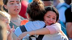 Student embraced after a shooting at Marjory Stoneman Douglas High School in Parkland, FL, Wednesday, February 2018 that left at least 17 dead. John McCall/South Florida Sun-Sentinel, via Associated Press. Florida High School, Florida Schools, Stoneman Douglas High School, Disney Fan, School Shootings, School Resources, Ny Times, Lesson Plans, Teaching