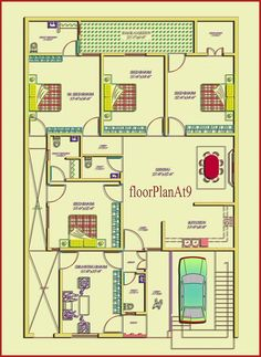 South Facing Home Plan includes bedrooms,bathrooms,living room and kitchen 40x60 House Plans, One Floor House Plans, 2bhk House Plan, Unique House Plans, Bungalow Floor Plans, House Plans Mansion, Indian House Plans, Beautiful House Plans, Model House Plan