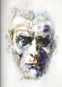 Unique vision: Louis le Brocquy painted this portrait of his friend, the writer Samuel Beckett in 1979 Samuel Beckett, Graphic Design Illustration, Illustration Art, Irish Painters, Irish Art, Arabic Art, A Level Art, Digital Portrait, Famous Artists