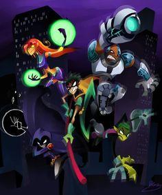 """meccanico: """" Go Teen Titans by zgul-osr1113 """""""