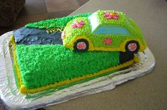 VW Bug Cake with buttercream
