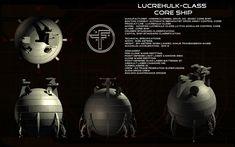 Lucrehulk-class Core Ship ortho by unusualsuspex