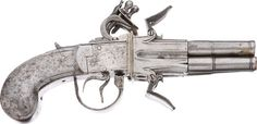 All Steel Four Barrel Swivel Breech Pistol  British, 18th century  Heritage Auctions