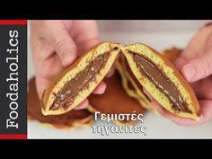 Γεμιστές τηγανίτες (Dorayaki)   Foodaholics - YouTube Hot Dog Buns, Hot Dogs, Tacos, Bread, Ethnic Recipes, Food, Youtube, Brot, Essen