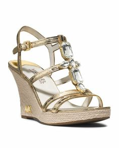MICHAEL+Michael+Kors++Jayden+Jeweled+Wedge+Sandal. Yes, I want these shoes!!!