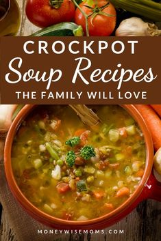 Easy slow cooker meals for fall and winter. These Crockpot Soup Recipes are family favorites! Slow Cooker Hamburger Soup, Slow Cooker Tortilla Soup, Easy Crockpot Soup, Crock Pot Soup, Crock Pot Slow Cooker, Easy Soup Recipes, Slow Cooker Recipes, Crockpot Recipes, Easy Family Meals