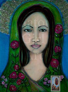 Our Lady of Guadalupe Art Print 8.5x11-- La Virgen de Guadalupe