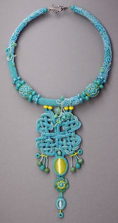 BEST USE OF PRECIOSA TRADITIONAL CZECH BEADS WINNER Mirror Danu Necklace Author: 	Tatiana Mankova, Rostov-on-Don, Russia
