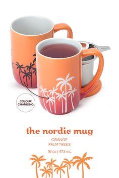 Add hot water to this mug and the palm trees change colour! Wish David's Tea still had this mug! I Love Coffee, Coffee Art, Hot Coffee, Coffee Cups, Davids Tea, Cuppa Tea, Cool Mugs, Tea Infuser, My Tea
