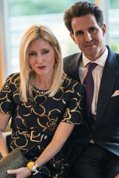 Crown Princess Marie-Chantal and Crown Prince Pavlos of Greece. Marie Chantal Of Greece, Greek Royalty, Greek Royal Family, Family World, Royal House, Royal Fashion, Her Style, Cool Outfits, Victoria