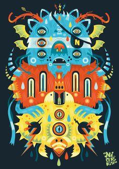 Illustration #8 ( special symmetry ) by Seb NIARK1 FERAUT, via Behance
