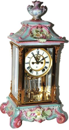 Clock Hourglass Time:  Anasina Antique #Clock.
