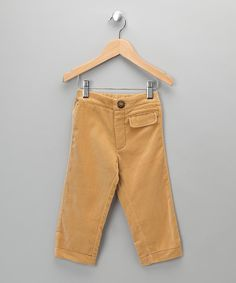 Made in the UK Boutique   Jake & Maya Beige Velvet Trousers - Infant, Toddler & Girls
