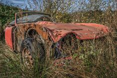 This car graveyard in Appleton, Cheshire was full of abandoned Triumph Spitfire racing vehicles until the site was finally sold and redeveloped.